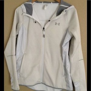 UnderArmour Small White Light Jacket with Hood